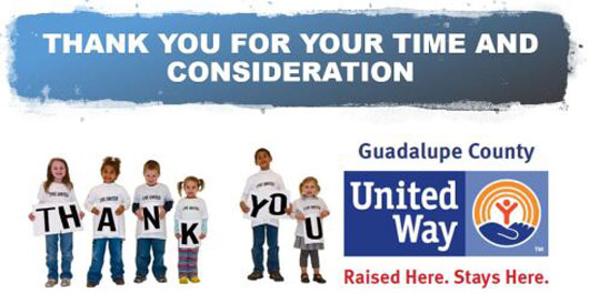 Guadalupe County United Way 2020 Fall Fund Raising Campaign